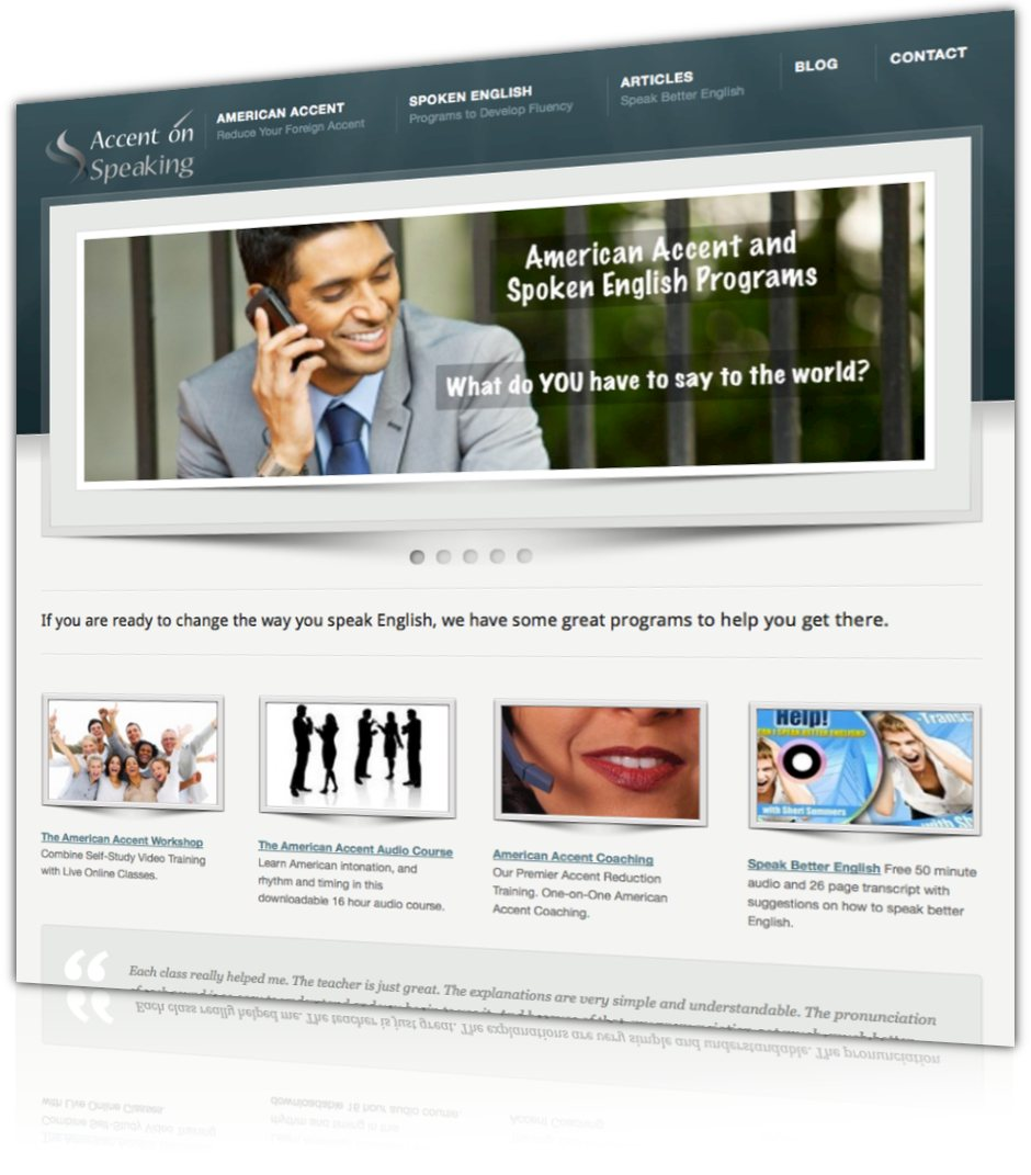 Accent on speaking web design and development gabitech for Design and development consultants