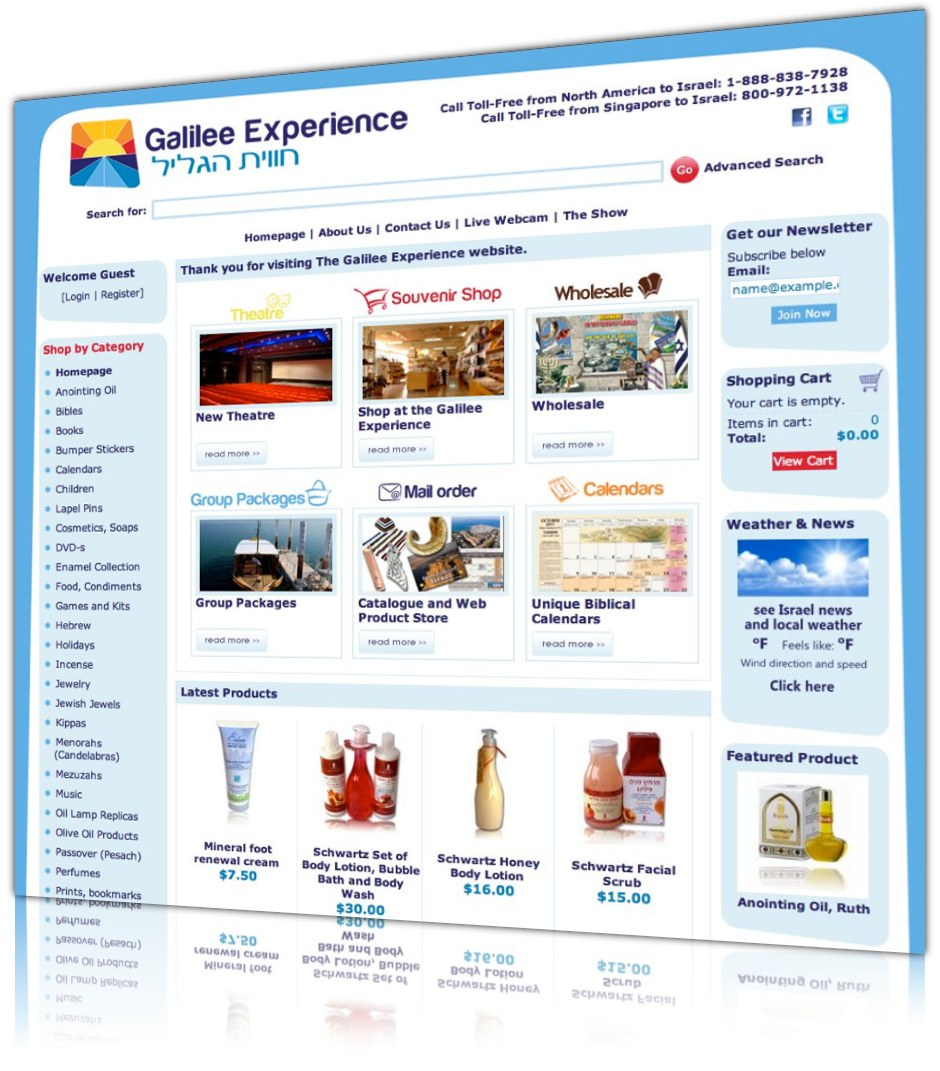 Galilee experience web design and development for Design and development consultants